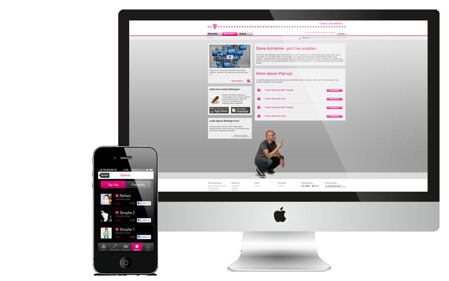 frontendumsetzung f r telekom onlinekampagne million. Black Bedroom Furniture Sets. Home Design Ideas