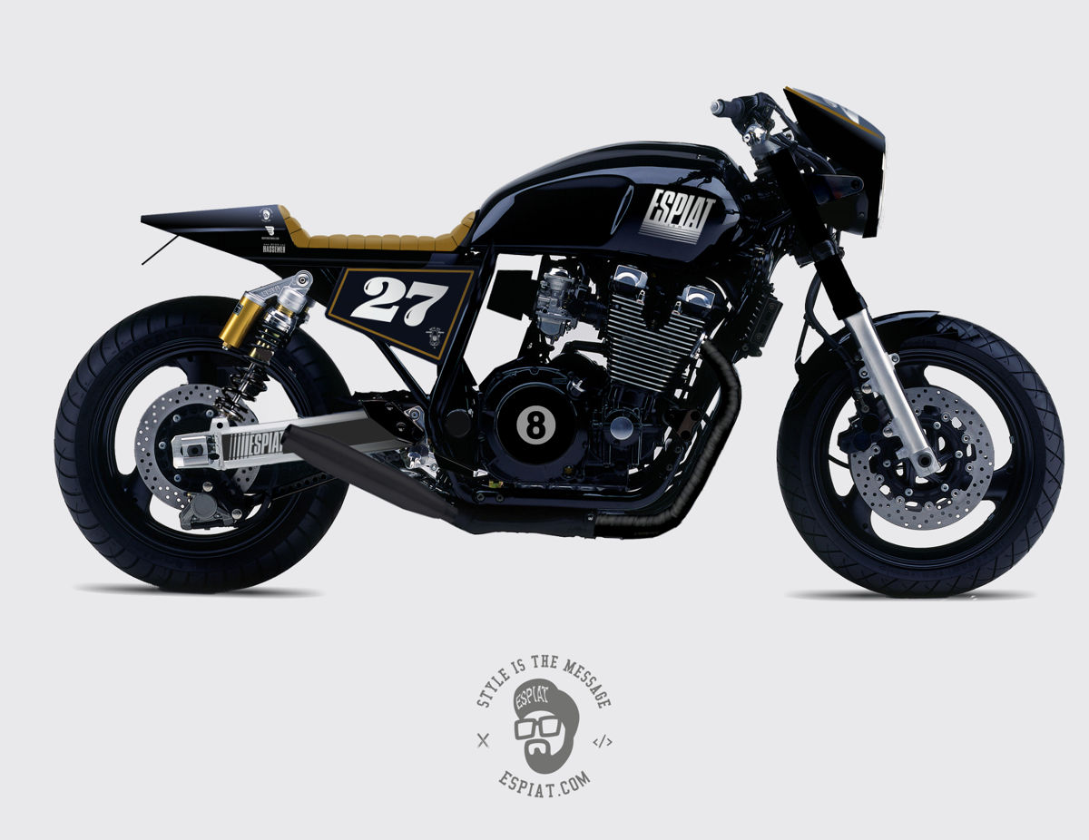 customprojekt umbau einer yamaha xjr 1200 baujahr 1995 espiat. Black Bedroom Furniture Sets. Home Design Ideas