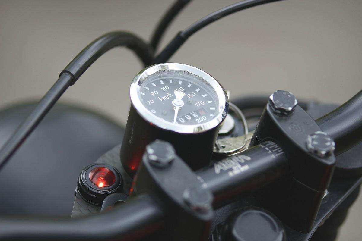 bmw r80 cafe racer tracker umbau tacho