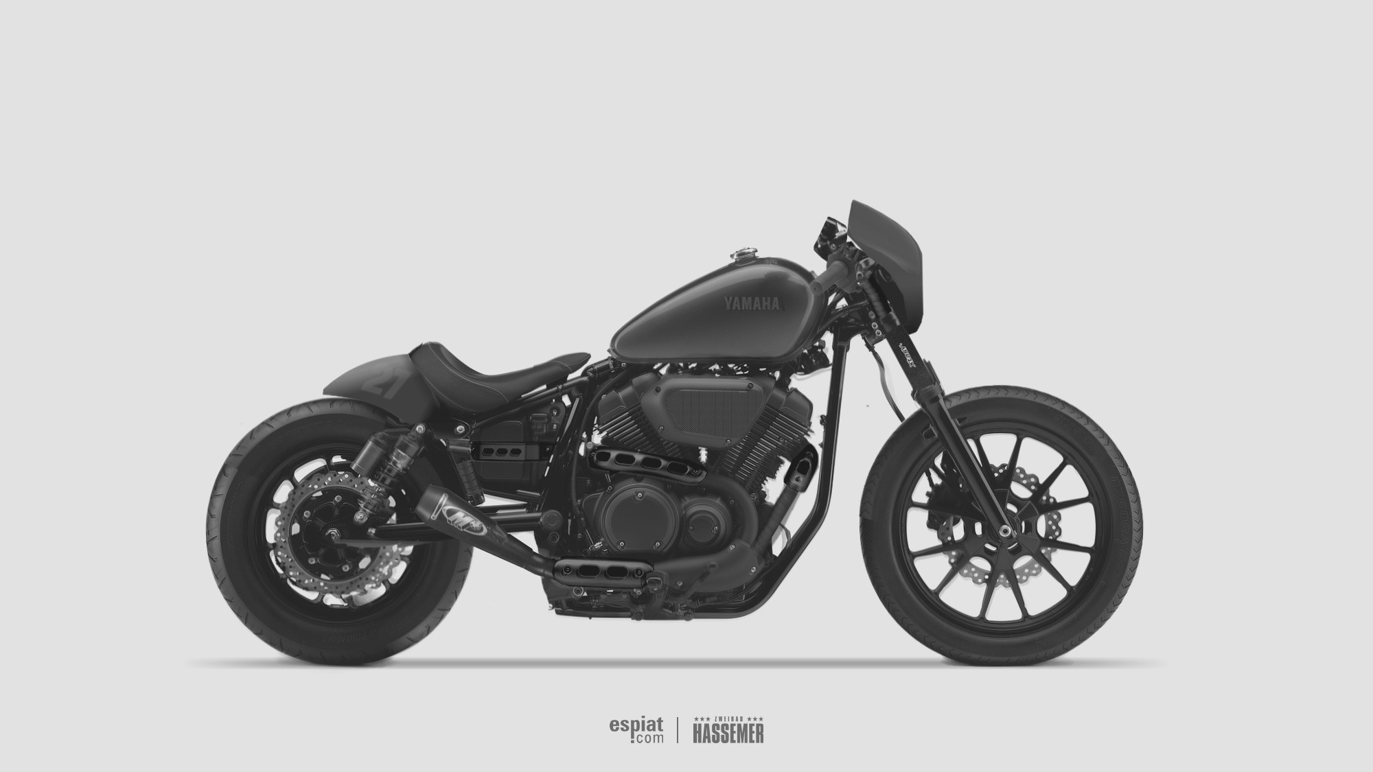 custom yamaha xv950r cafe bobber concept espiat. Black Bedroom Furniture Sets. Home Design Ideas