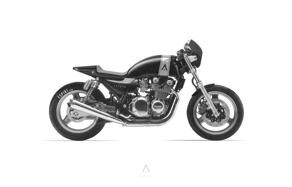 Kawasaki-Zephyr-cafe-racer-umbau-espiat-maske