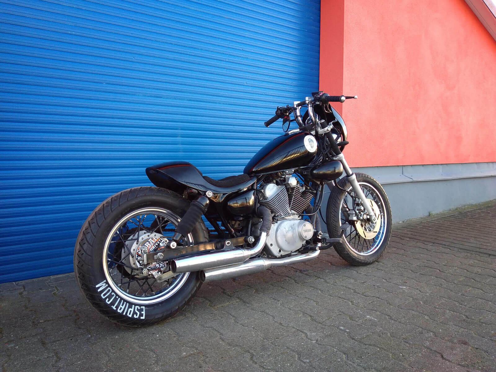 Yamaha xv250 und xv250 cafe bobber umbau espiat