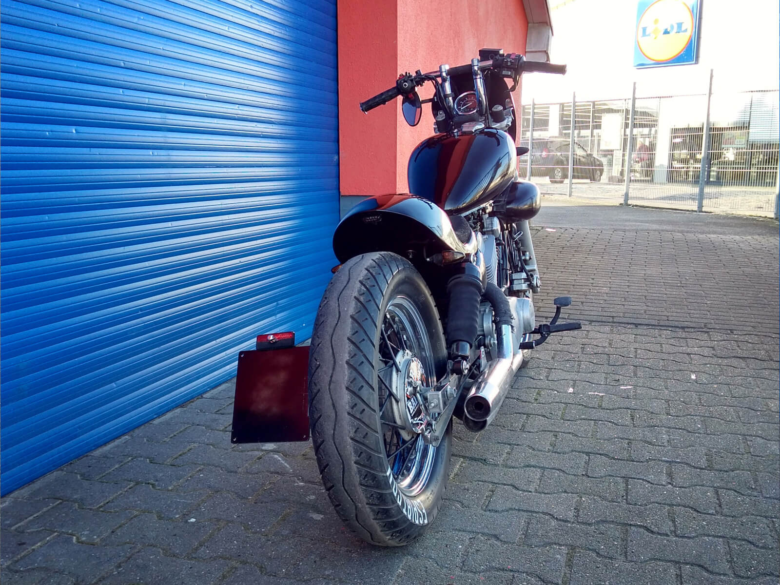 Yamaha Xv250 Xv125 Virago Cafe Bobber Custom Bike