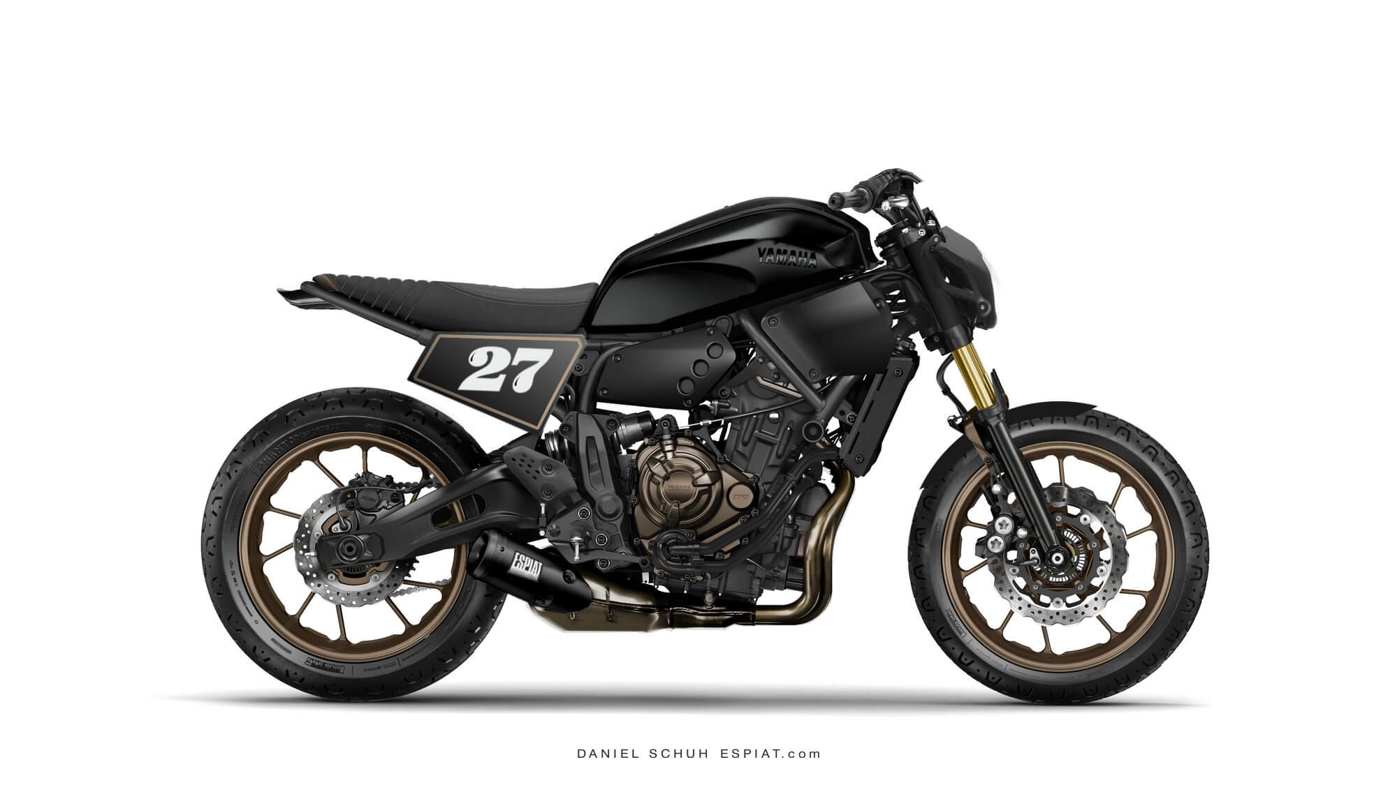 yamaha xsr700 cafe racer und street tracker umbau espiat. Black Bedroom Furniture Sets. Home Design Ideas
