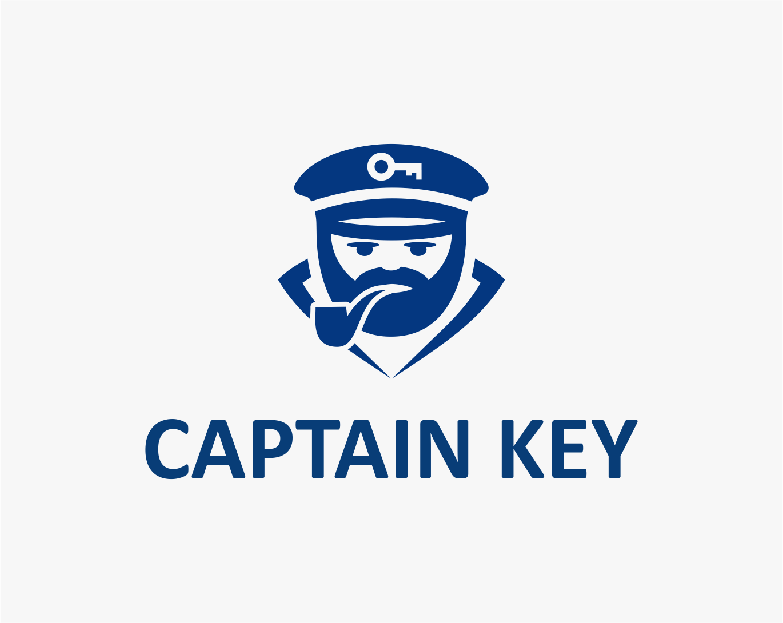 captain-key-logo-design-minimalistisch-illustrativ